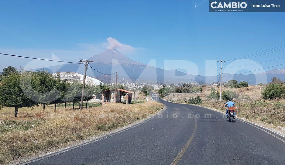 Sin iluminación y señalética el Paso de Cortés, principal ruta de evacuación de comunidades cercanas al Popo