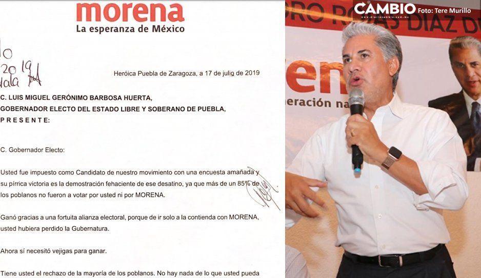 Tras fracasar y reunirse con la pipitilla de Morena, Rojas Diaz Durán se pone insolente con Barbosa