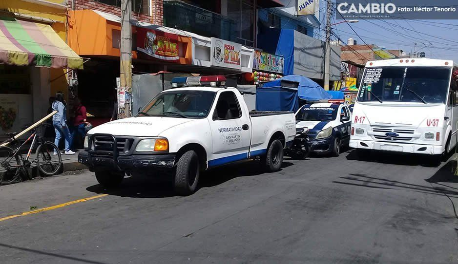 Inician los trabajos para reordenamiento de ambulantes en Texmelucan