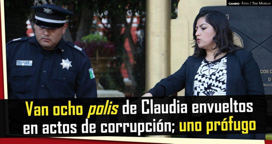 Van ocho polis de Claudia envueltos en actos de corrupción; uno prófugo (VIDEO)