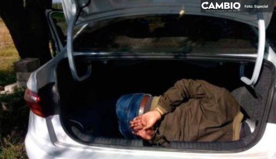 Ejército rescata a secuestrado encajuelado en Tecamachalco