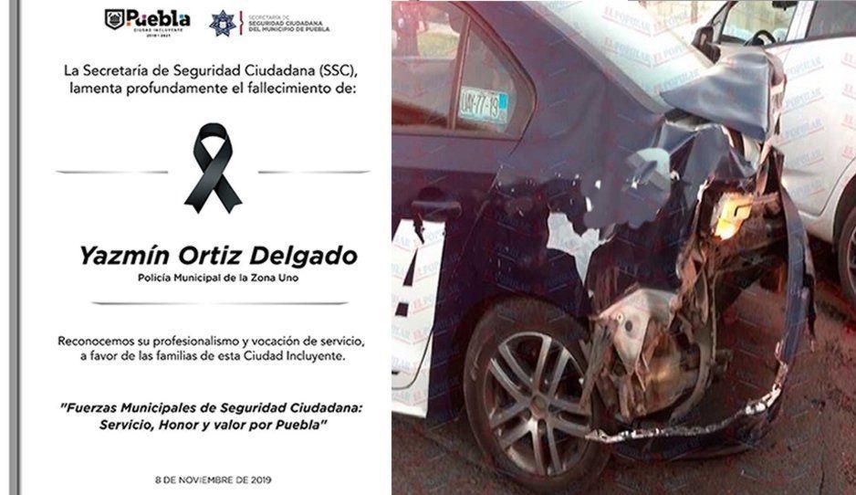 Muere policía al ser embestida por un conductor borracho en la México-Puebla