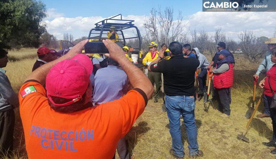 Se registra segunda fuga de gas por toma clandestina en Tlahuapan