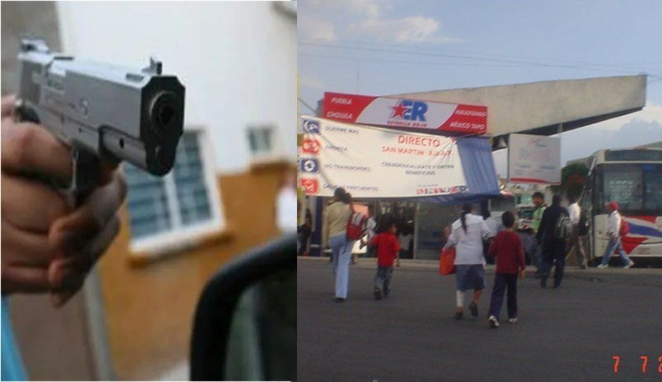 Encañonan y asaltan a clientes en terminal de Estrella Roja de Texmelucan