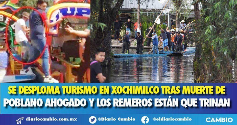 Se desploma turismo en Xochimilco tras muerte de poblano ahogado y los remeros están que trinan