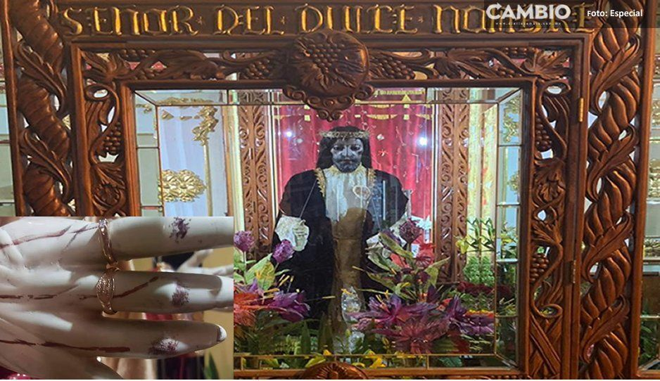 Resguardan imágenes religiosas, tras el robo de anillo de oro en Huejotzingo