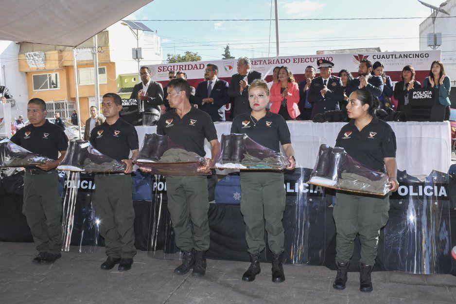 Ayuntamiento de Cuautlancingo invierte 18 millones de pesos en materia de Seguridad Pública