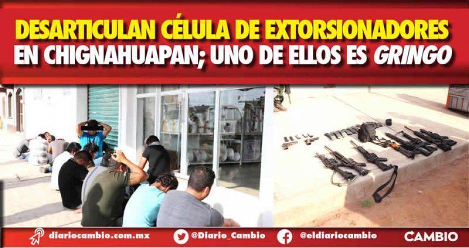 Desarticulan célula de extorsionadores en Chignahuapan; uno de ellos es gringo