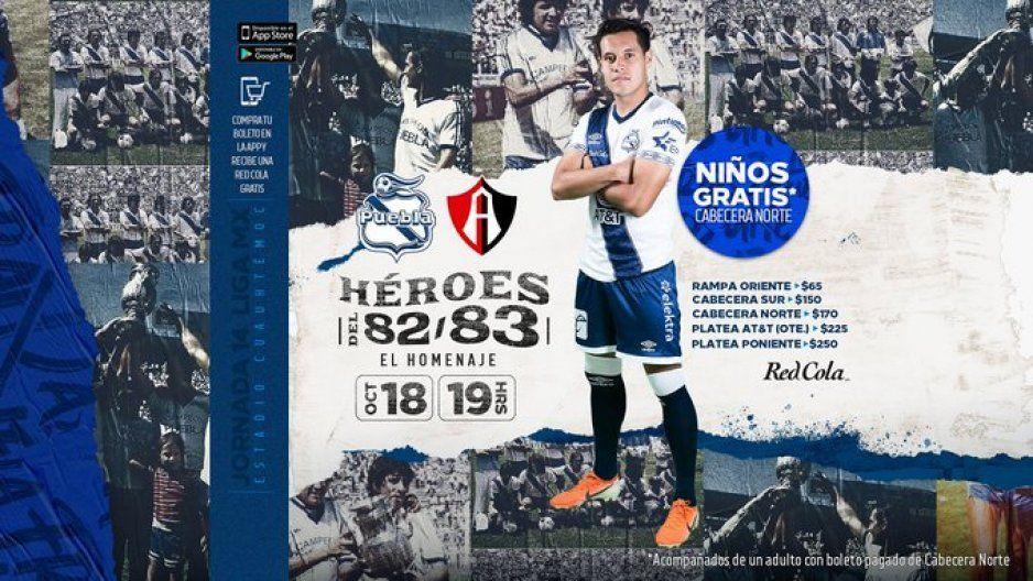 Club Puebla rendirá homenaje a sus ídolos durante el medio tiempo del partido vs Atlas