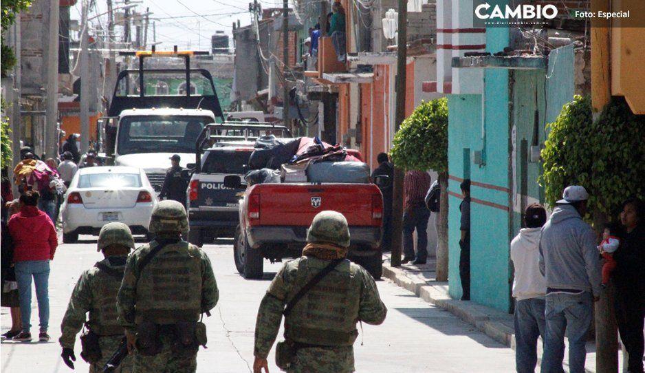 Atracadores de tianguistas se enfrentan con policías en San Martín Texmelucan