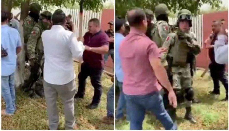 Michoacanos acorralan y desarman a militares en Los Reyes (VIDEO)