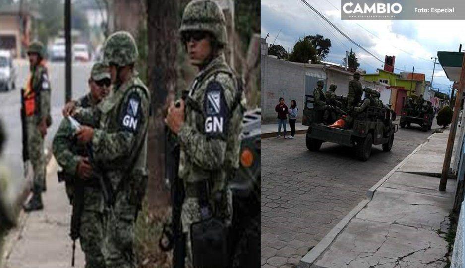 Robatrenes desarman y agreden a elementos de la Guardia Nacional en Tlaxcala