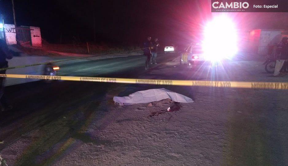 Hombre pierde la vida al ser arrollado en la federal México-Puebla