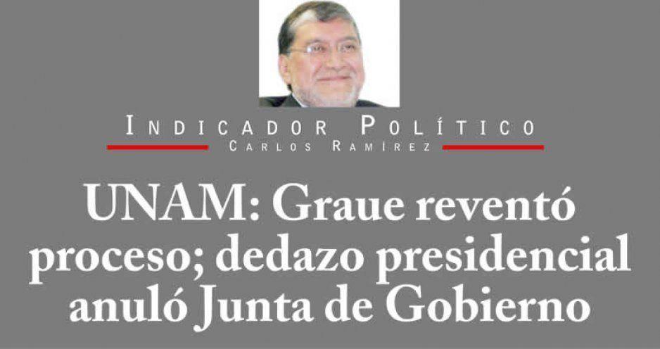 UNAM: Graue reventó proceso; dedazo presidencial anuló Junta de Gobierno