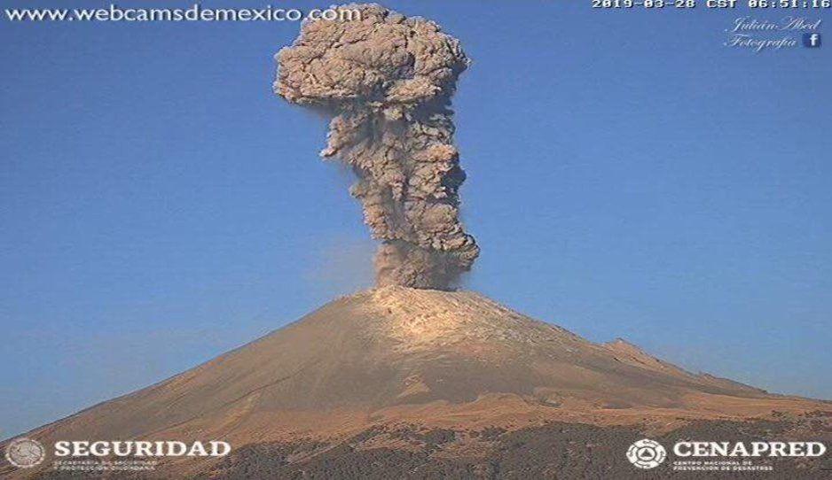 Alistan macrosimulacro ante posible erupción del Popocatépetl