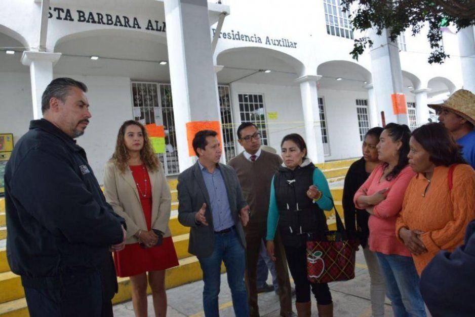 Reabre gobierno de San Pedro Cholula palacio auxiliar de Santa Barbara Almoloya; se reactivan servicios