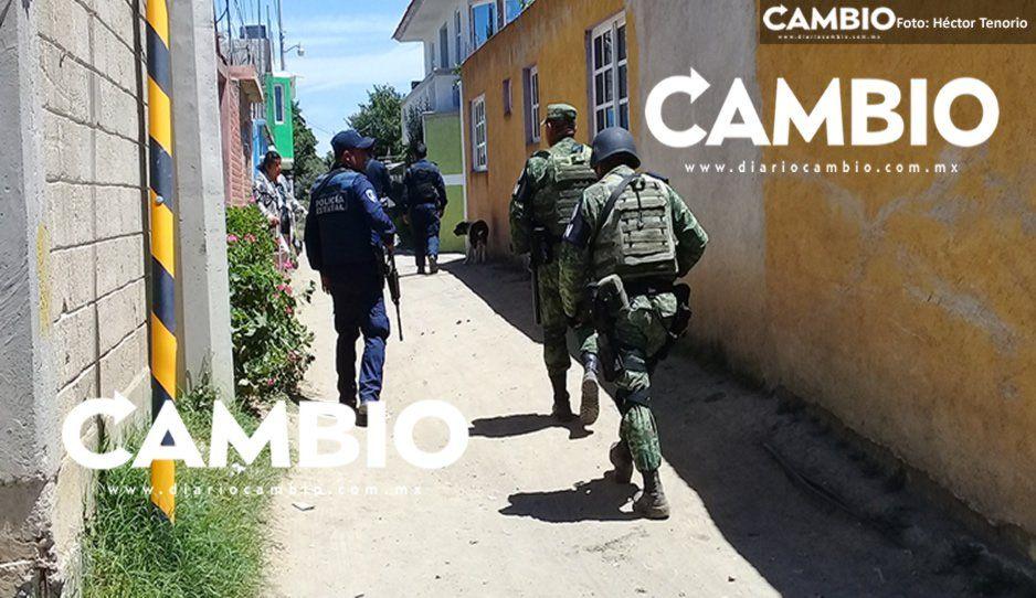 Localizan predio con vehículos robados en San Lorenzo Chiautzingo