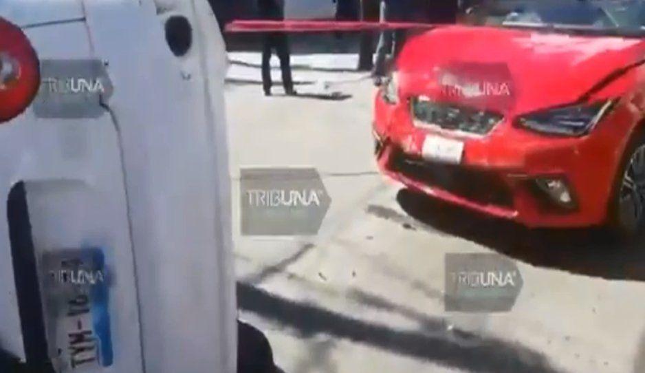 ¡Más salado que el Cruz Azul! Sale hacer la prueba de manejo y termina chocando en Chulavista (VIDEO)