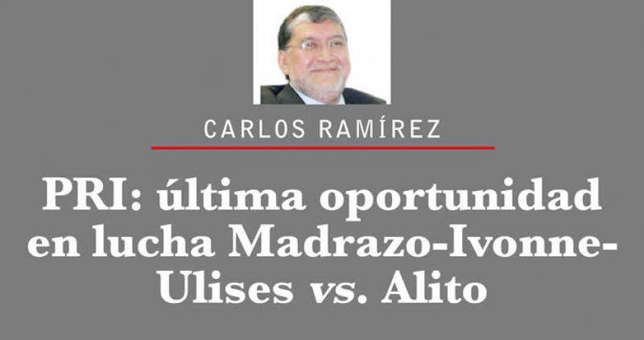 PRI: última oportunidad en lucha Madrazo-Ivonne-Ulises vs. Alito