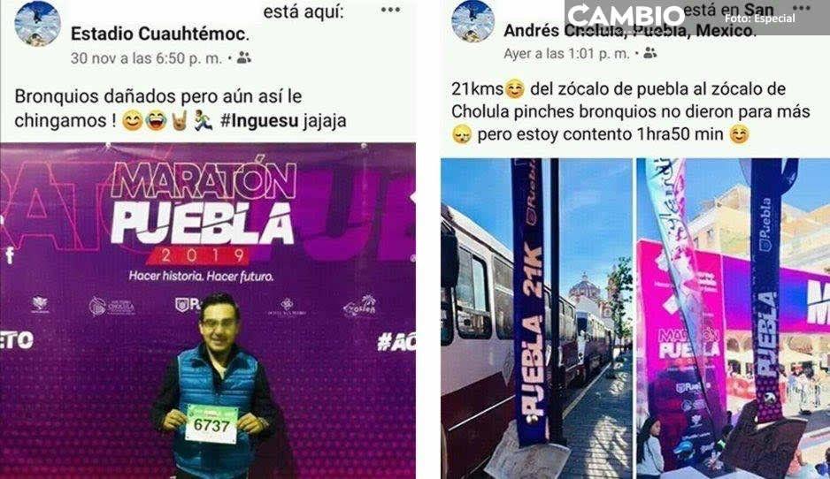 Exhiben en redes a los ladrones de medallas del Maratón Puebla