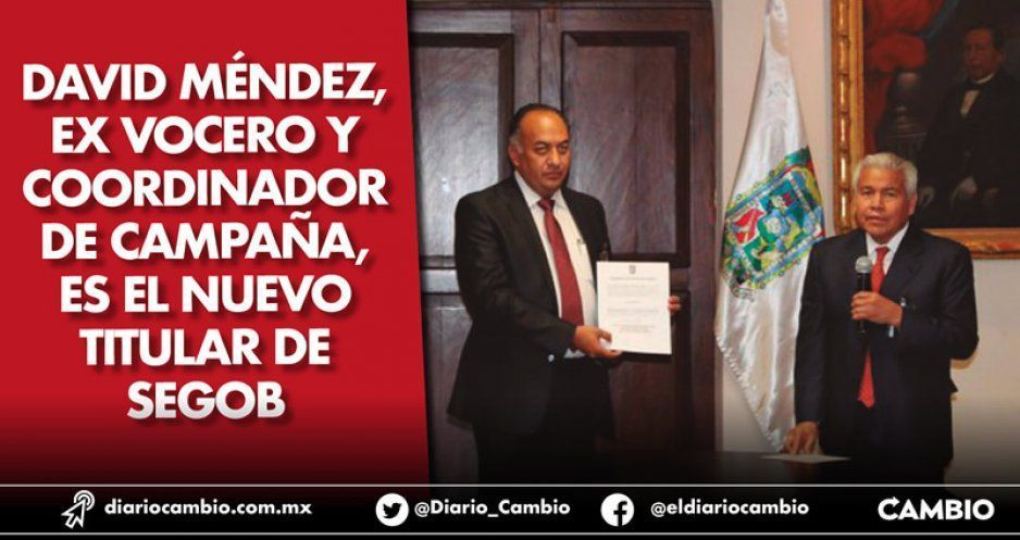 David Méndez, ex vocero y coordinador de campaña, es el nuevo titular de Segob (VIDEO)