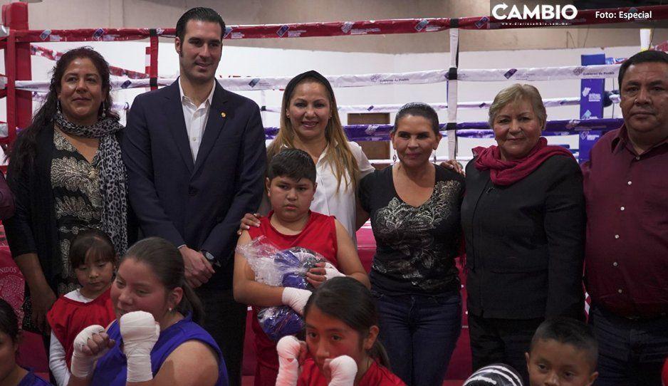 Inauguran Conabox e Inpode escuela  de iniciación boxística en Texmelucan