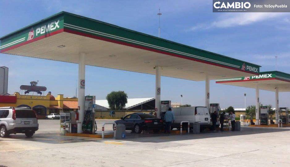 A balazos atracan gasolinera en la México-Puebla, ladrones dejan camioneta abandona