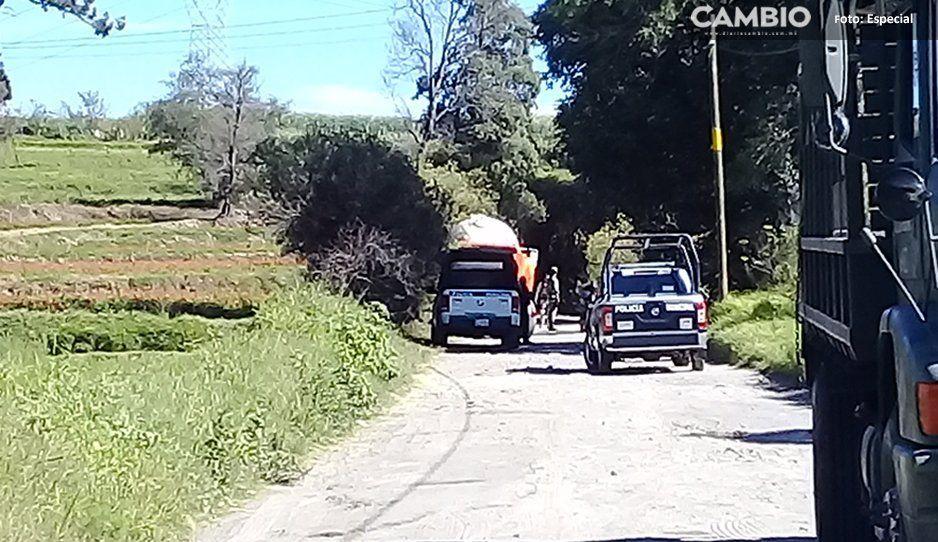 Detienen a sujeto con gas de dudosa procedencia y ubican toma clandestina con fuga en Texmelucan