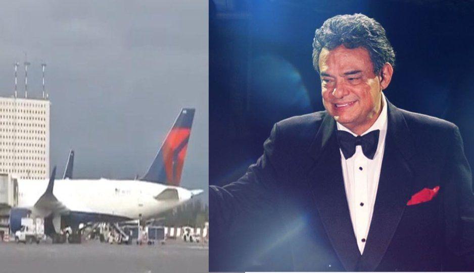 Avión de Fuerza Aérea llega a México con cenizas de José José (VIDEO)