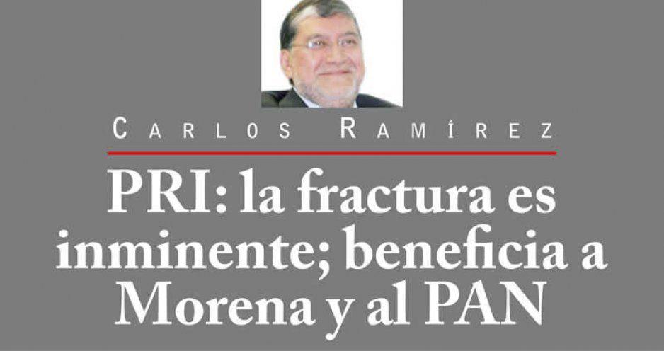 PRI: la fractura es inminente; beneficia a Morena y al PAN