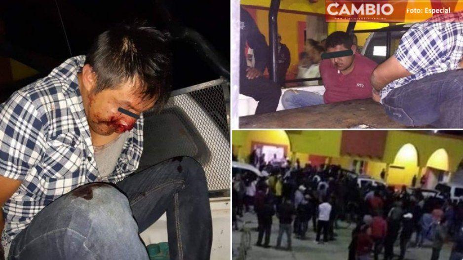 ¡De la que se salvaron! GN y Policía Estatal impiden linchamiento de poblano y jarocho en Tepeyahualco