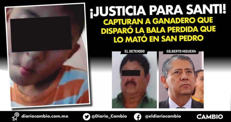 ¡Justicia para Santi! capturan a ganadero que disparó la bala perdida que lo mató en San Pedro (VIDEOS)