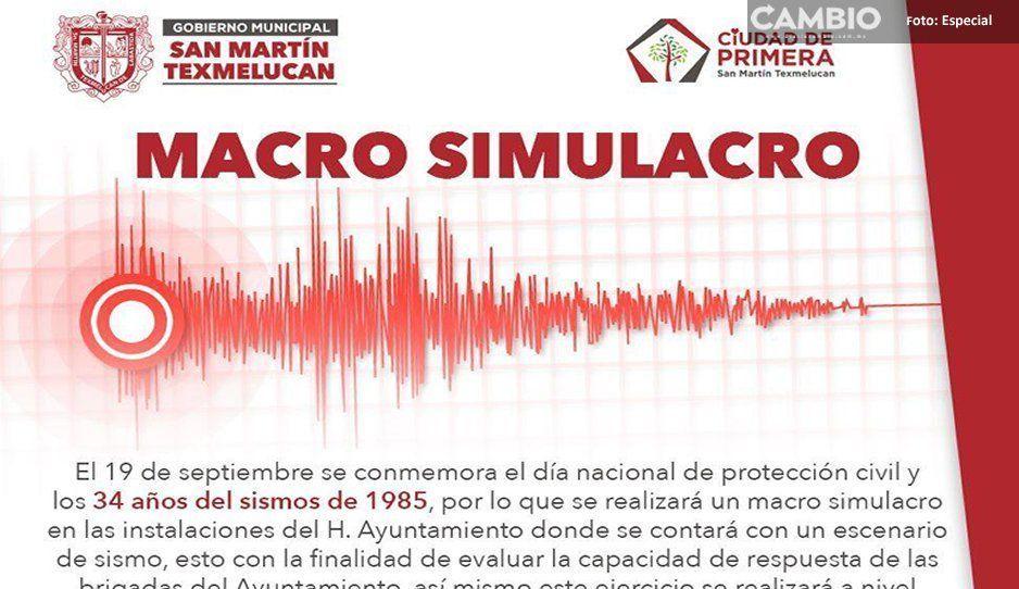 No te alarmes: Gobierno de San Martín Texmelucan prepara macro simulacro de sismo este jueves