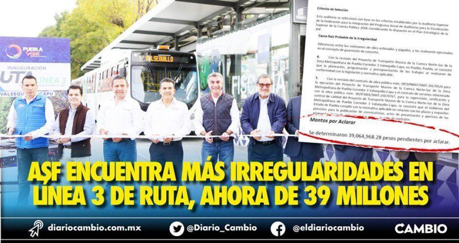 ASF encuentra más irregularidades en la construcción de RUTA 3,  ahora por 39 millones de pesos