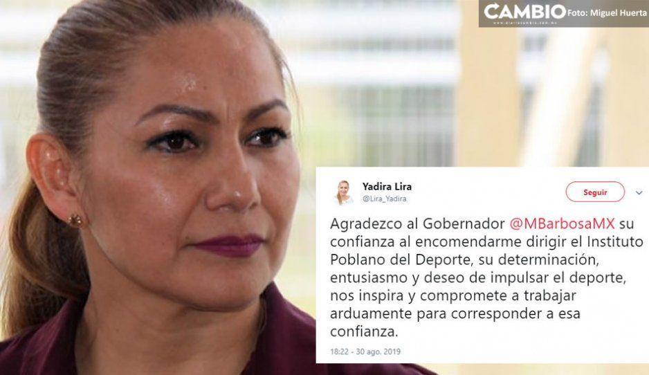 Yadira Lira se convierte de manera oficial en la nueva titular del Instituto Poblano del Deporte