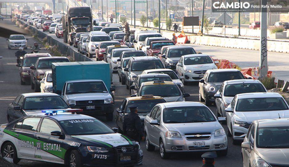 #CaosVial: Cierre del Boulevard Carmelitas provoca tráfico intenso en el Periférico (FOTOS y VIDEO)