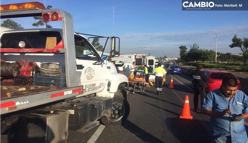 Un muerto y dos lesionados fue el saldo del accidente con camión robado en la Puebla-Orizaba
