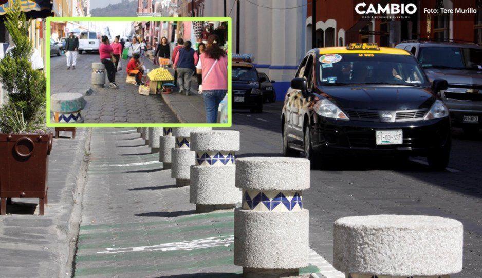 Ciclopista de la 4 poniente invadió espacio de los ambulantes, dice la Segom