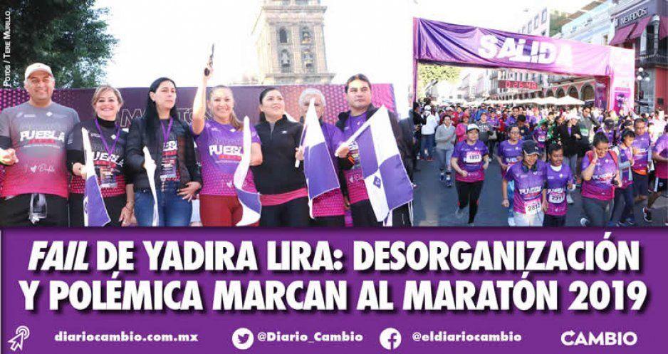 FAIL de Yadira Lira: desorganización y polémica marcan al Maratón 2019