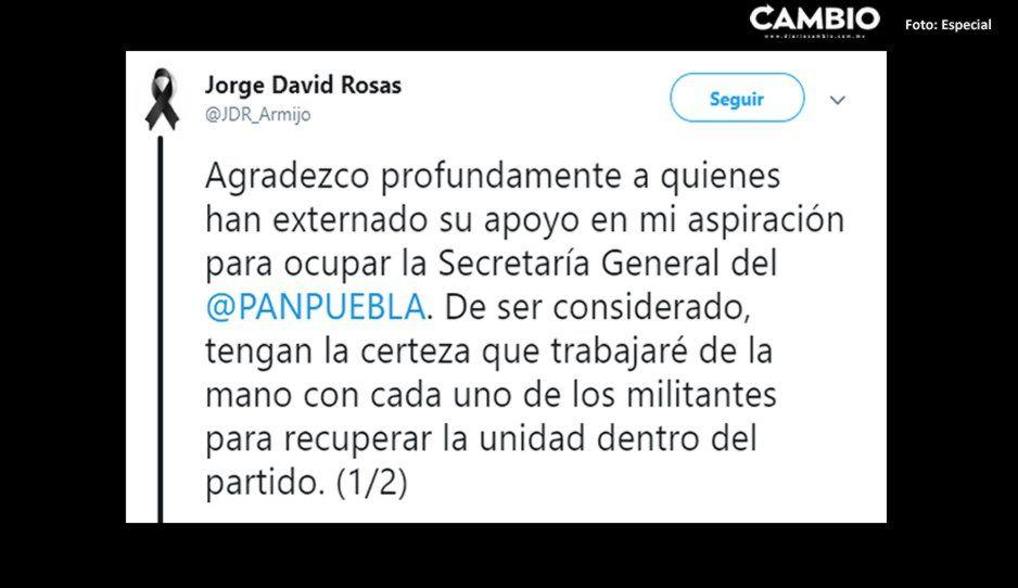 Rosas Armijo se apunta para ser el nuevo secretario general del PAN