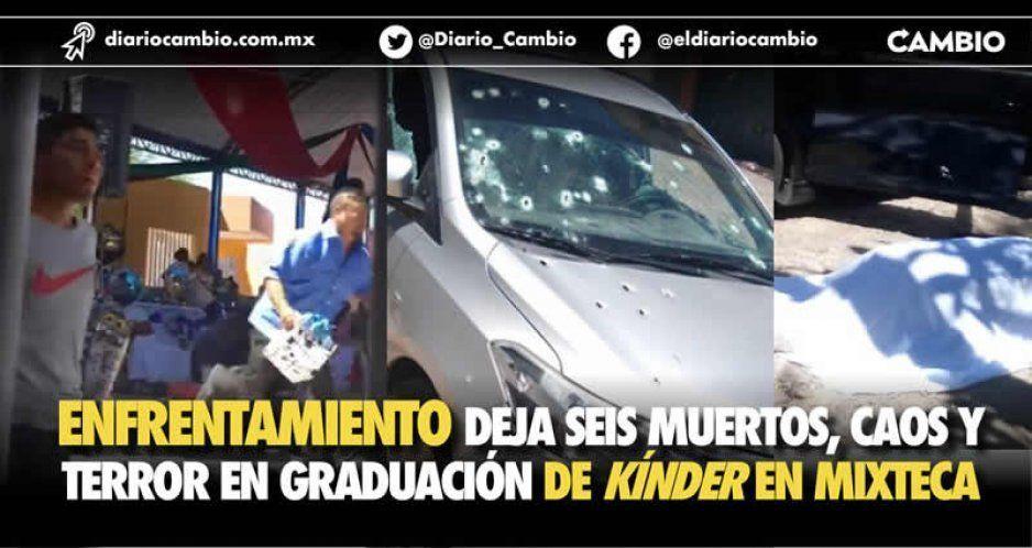 Terror por balacera atrás de un kínder en Guadalupe Santa Ana: murieron 4 e hirieron a 2 (VIDEO)