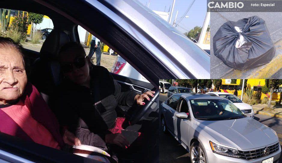 #LadyBasura Deja una bolsa con desechos en la avenida de la Reforma y enfurece al ser exhibida (FOTOS)