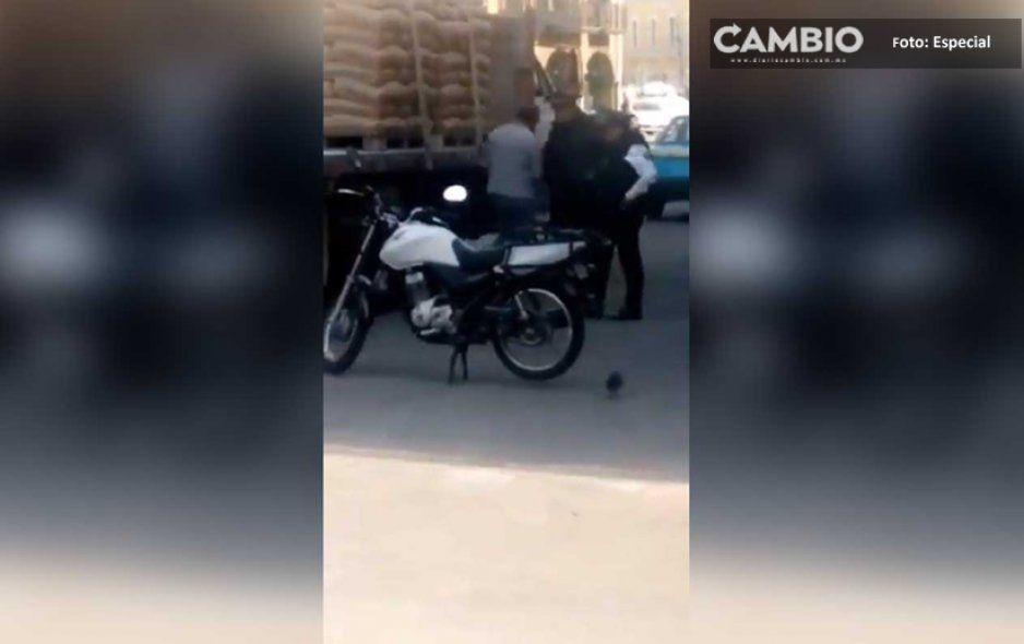 Son captados policías mordelones en San Martin Texmelucan (VIDEO)