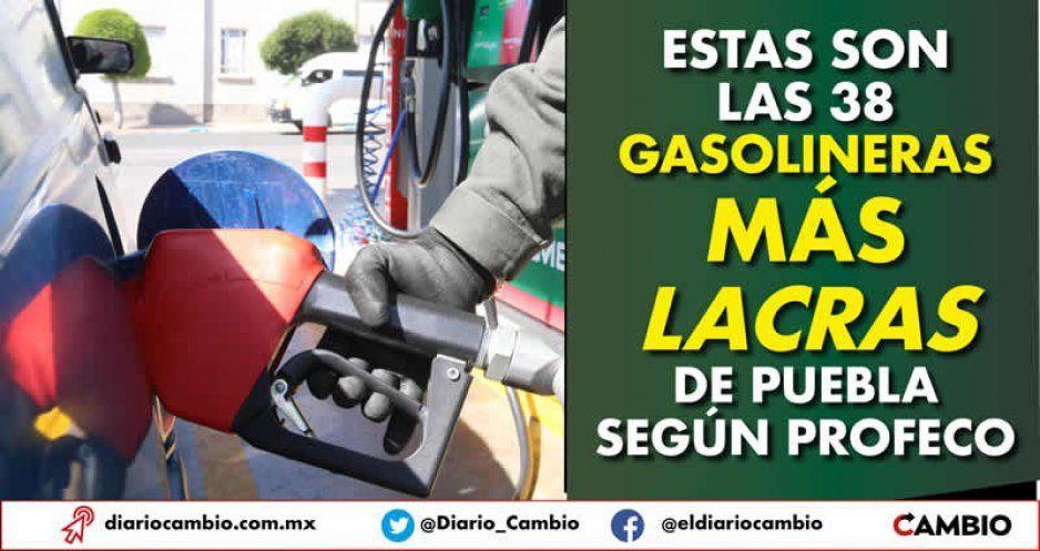 Estas son las 38 gasolineras más lacras de Puebla según Profeco