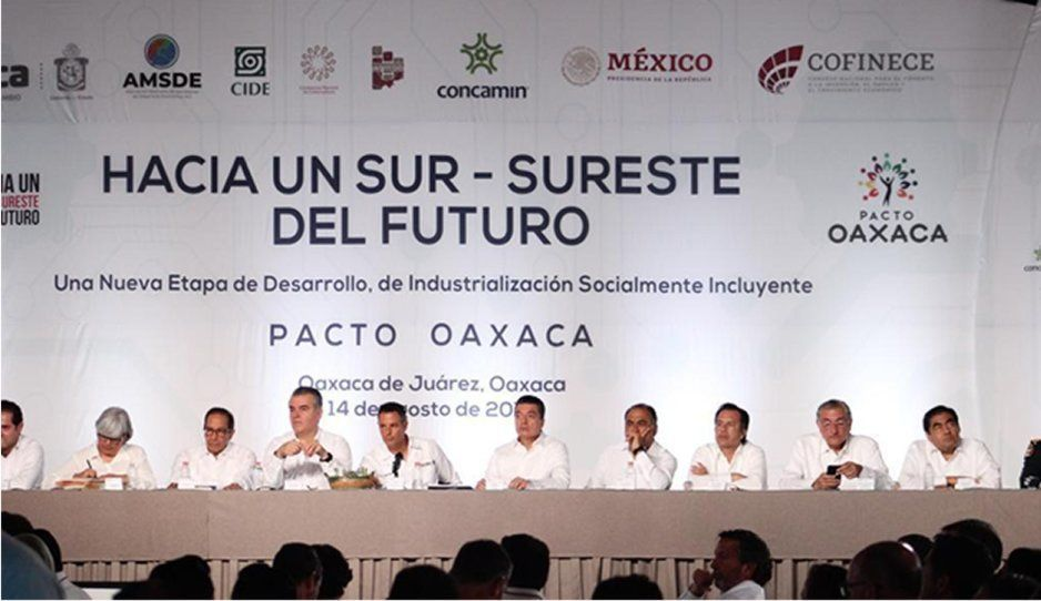 Se suma Barbosa a la firma del Pacto Oaxaca; impulsará el desarrollo de nueve estados