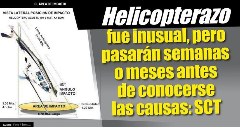Helicopterazo fue inusual, pero pasarán semanas o meses antes de conocerse las causas: SCT (FOTOS)