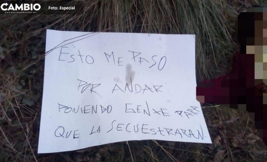 Mujer asesinada en Zacatlán era líder de secuestradores: Fiscalía