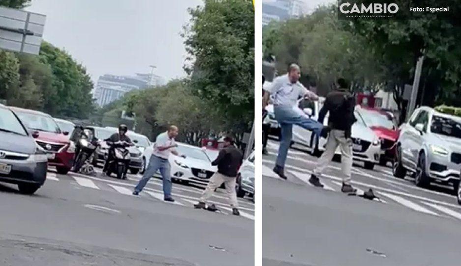 VIDEO: Hoy en peleas callejeras, presentamos: Don Uber contra motociclista