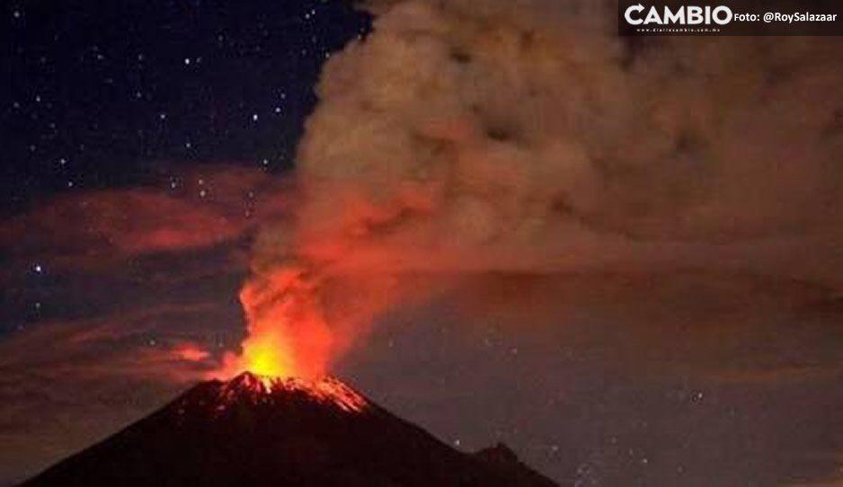 Popocatépetl lanza rocas del tamaño de un microbús en explosiones