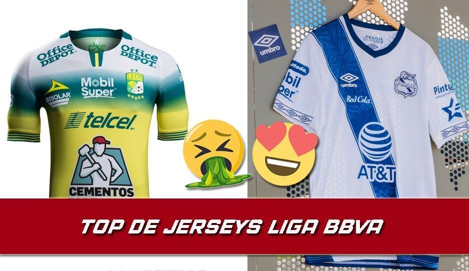 La del Puebla la más hermosa: Checa el Top de jerseys del futbol mexicano para el A2019